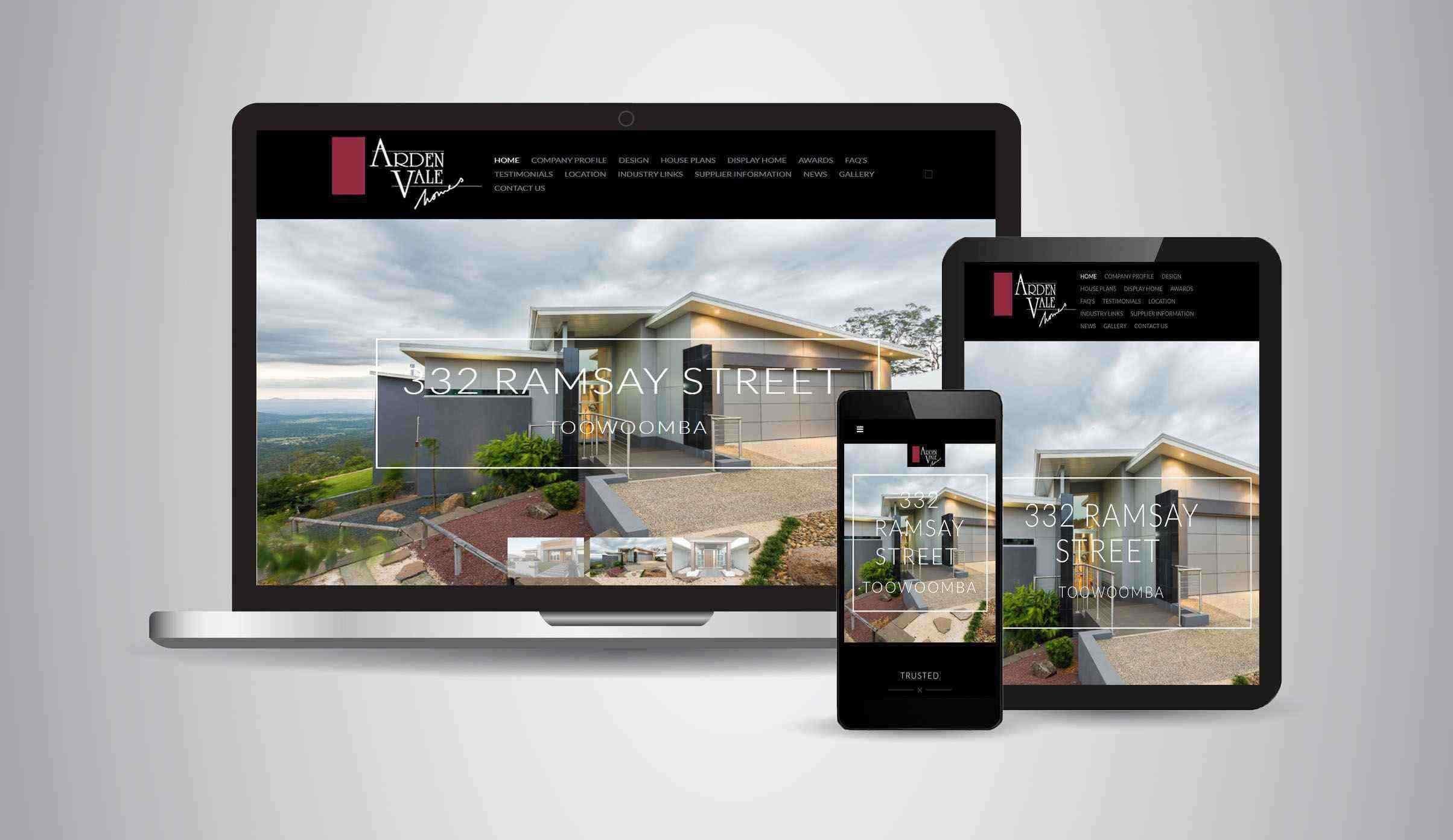 Arden Vale Homes - Website Designer Brisbane Portfolio