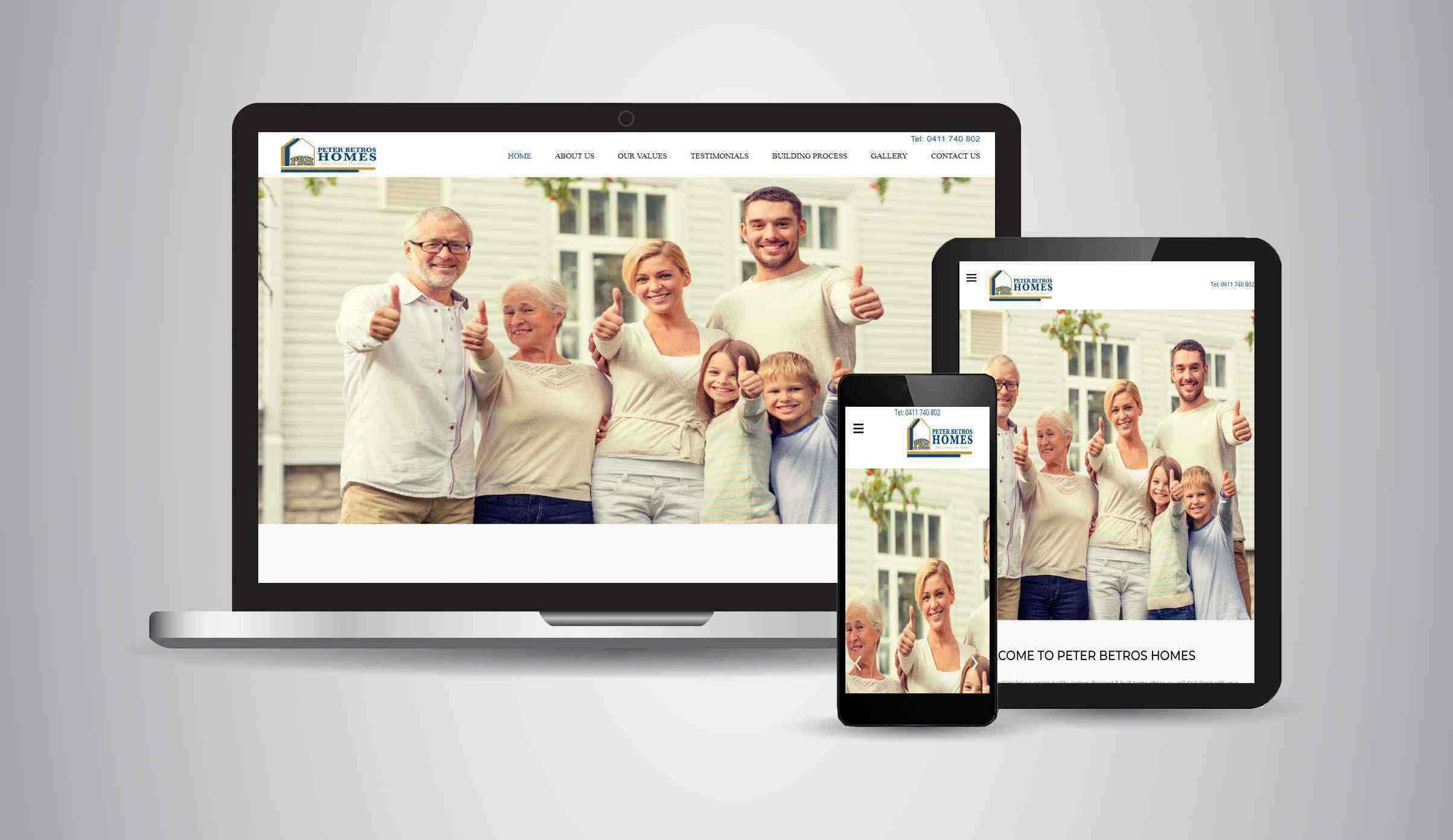 Peter Betros Homes - Website Designer Brisbane Portfolio