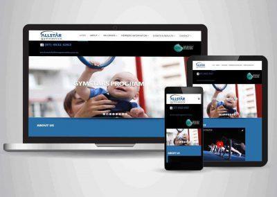 Allstar Gymnastics - Website Designer Brisbane Portfolio