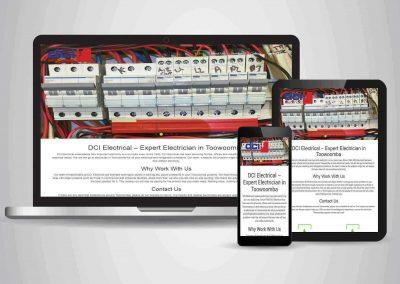 DCI Electrical - Website Designer Brisbane Portfolio