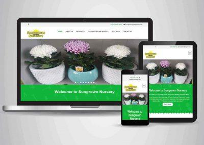 Sun Grown Nursery - Website Designer Brisbane Portfolio